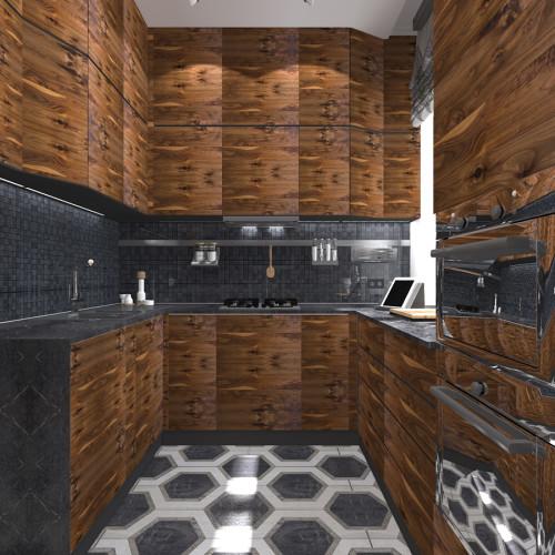 kitchen-dark-grey-wood